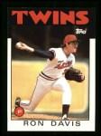 1986 Topps #265  Ron Davis  Front Thumbnail