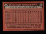 1986 Topps #564  Warren Brusstar  Back Thumbnail