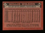 1986 Topps #25  Willie Wilson  Back Thumbnail