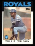 1986 Topps #25  Willie Wilson  Front Thumbnail