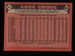 1986 Topps #302  Greg Gross  Back Thumbnail