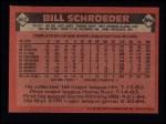 1986 Topps #662  Bill Schroeder  Back Thumbnail