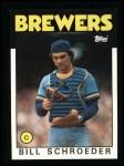 1986 Topps #662  Bill Schroeder  Front Thumbnail