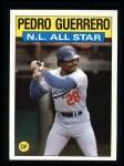 1986 Topps #706   -  Pedro Guerrero All-Star Front Thumbnail