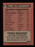 1986 Topps #706   -  Pedro Guerrero All-Star Back Thumbnail