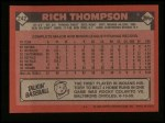 1986 Topps #242  Rich Thompson  Back Thumbnail