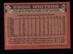 1986 Topps #15  Eddie Whitson  Back Thumbnail