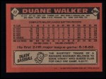 1986 Topps #22  Duane Walker  Back Thumbnail