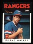 1986 Topps #22  Duane Walker  Front Thumbnail