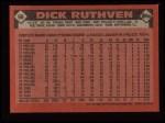 1986 Topps #98  Dick Ruthven  Back Thumbnail