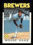 1986 Topps #759  Moose Haas  Front Thumbnail