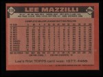 1986 Topps #578  Lee Mazzilli  Back Thumbnail