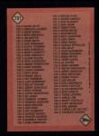 1986 Topps #791   Checklist: 661-792 Back Thumbnail