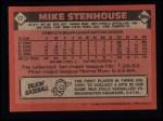1986 Topps #17  Mike Stenhouse  Back Thumbnail