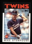 1986 Topps #17  Mike Stenhouse  Front Thumbnail