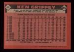 1986 Topps #40  Ken Griffey  Back Thumbnail