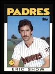 1986 Topps #762  Eric Show  Front Thumbnail