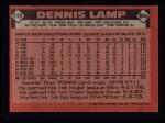 1986 Topps #219  Dennis Lamp  Back Thumbnail