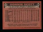 1986 Topps #568  Donnie Scott  Back Thumbnail
