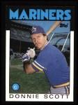 1986 Topps #568  Donnie Scott  Front Thumbnail