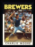 1986 Topps #137  Charlie Moore  Front Thumbnail