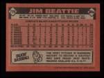 1986 Topps #729  Jim Beattie  Back Thumbnail