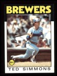 1986 Topps #237  Ted Simmons  Front Thumbnail
