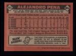 1986 Topps #665  Alejandro Pena  Back Thumbnail