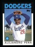 1986 Topps #665  Alejandro Pena  Front Thumbnail