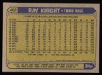 1987 Topps #488  Ray Knight  Back Thumbnail