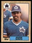 1987 Topps #235  Alvin Davis  Front Thumbnail