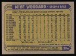 1987 Topps #286  Mike Woodard  Back Thumbnail