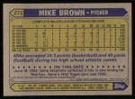 1987 Topps #271  Mike G. Brown  Back Thumbnail