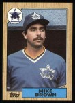 1987 Topps #271  Mike G. Brown  Front Thumbnail