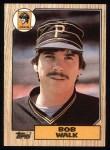 1987 Topps #628  Bob Walk  Front Thumbnail