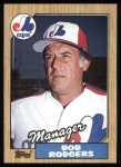 1987 Topps #293  Bob Rodgers  Front Thumbnail