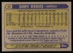 1987 Topps #42  Gary Redus  Back Thumbnail