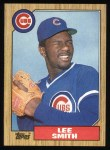 1987 Topps #23  Lee Smith  Front Thumbnail
