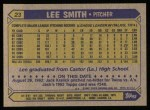 1987 Topps #23  Lee Smith  Back Thumbnail