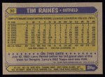 1987 Topps #30  Tim Raines  Back Thumbnail