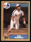 1987 Topps #30  Tim Raines  Front Thumbnail