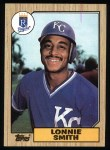 1987 Topps #69  Lonnie Smith  Front Thumbnail