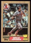 1987 Topps #80  Wally Joyner  Front Thumbnail
