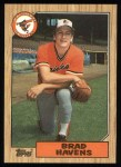 1987 Topps #398  Brad Havens  Front Thumbnail