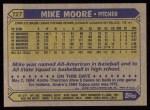 1987 Topps #727  Mike Moore  Back Thumbnail