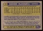 1987 Topps #95  Oddibe McDowell  Back Thumbnail