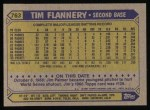 1987 Topps #763  Tim Flannery  Back Thumbnail