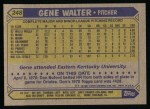 1987 Topps #248  Gene Walter  Back Thumbnail
