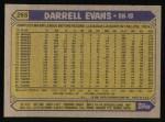 1987 Topps #265  Darrell Evans  Back Thumbnail