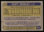 1987 Topps #376  Scott Bradley  Back Thumbnail